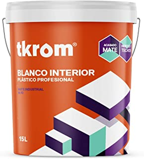 Pintura plastica blanca para paredes y techos Tkrom M-10 (15 litros)