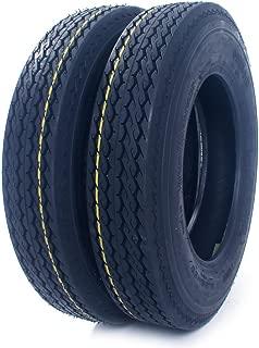 Set Of 2 Tubeless LRC 5.30-12 Trailer Tires Load Range C-11033 6 Ply 5.30x12 530-12 530x12 12