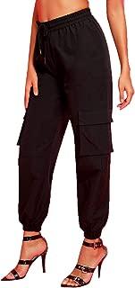Women's Casual Drawstring Waist Long Pants High Waist Sweatpants