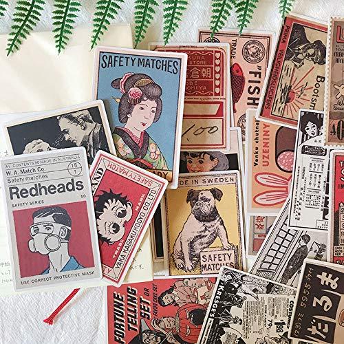 JUNZE Werbung Poster Aufkleber Basteln und Scrapbooking Aufkleber Kinderspielzeug Buch Dekorative Aufkleber DIY Briefpapier 30St