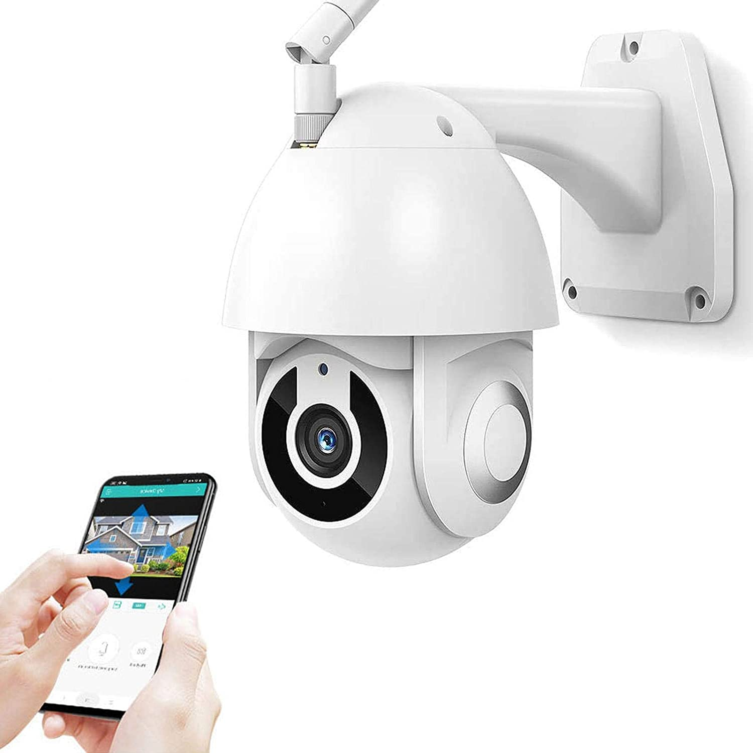 Outdoor Surveillance Boston Mall Camera OFFicial mail order 1080P 360°pa Security HD WiFi