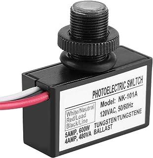 光電スイッチ AC交流 光センサー制御 自動的 照明器具 スイッチ 光センサー LEDランプ・庭のライト・芝生のライト・街路照明・チャンネルの照明・ドアのライトなどに制御スイッチ