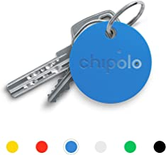 Chipolo Classic Bluetooth Key Finder and Phone Finder, 92dB Alarm Sound, 200ft Work Range, Replaceable Battery Smart Key Tracker Locator - Blue