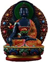 ZGPTX Small Buddha Statue Disaster Relief Extended Life Glass Light Such As to Buddha Painted Blue Pharmacist Knot Circula...