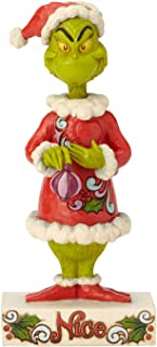 Enesco Dr. Seuss The Grinch by Jim Shore Two-Sided Naughty and Nice Figurine, 8.98