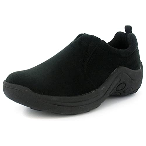 edacfd801848 New Womens Ladies Black Elasticated Slip On Moccasin Shoes Trainers - Black  - UK