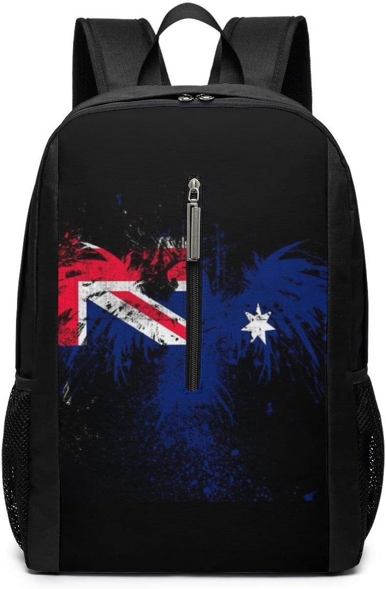 Large Camping Outdoor Backpacks Australia Flag Eagles College Student Work Travel 17 In Daypack Diaper For Unisex Boys