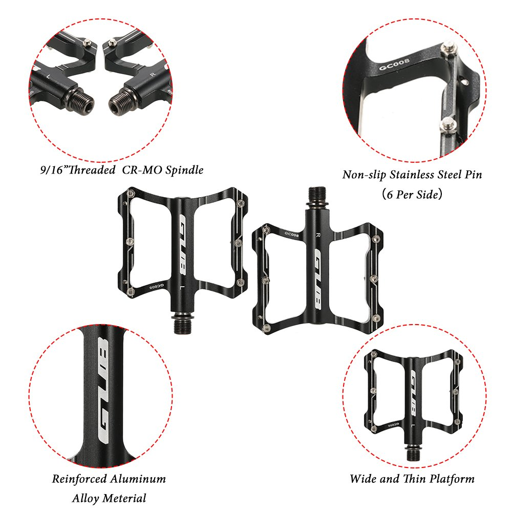 Details about  /GUB Antiskid Bike Pedals MTB Bicycle Pedal Sealed Bearing Cycling Platform Pedal