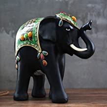 Statues For Home Decor,Creative Southeast Asia Lucky Elephants Animal Figurines Crafted Sculpture,Home Desktop Crafts Art Décor Statuettes For Indoor Living Room Or Office