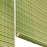 Persiana enrollable Cortina de Bambu- Verde...