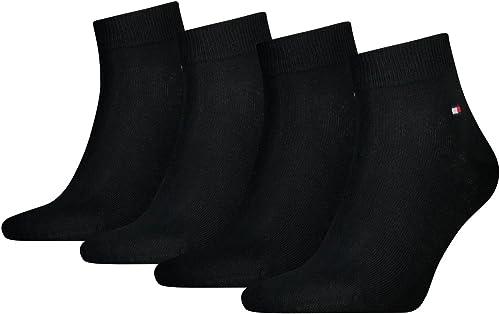 Tommy Hilfiger Flag Men's Casual Business Quarter Socks Pack of 4