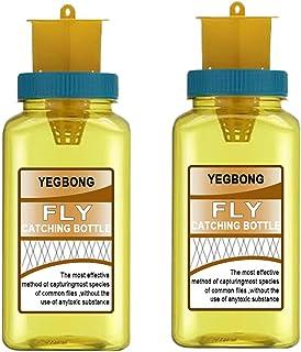 Fly Catcher - 2-pack vliegenval Super effectieve herbruikbare insectenval voor buiten, tuin, geel, 15 cm 8 cm