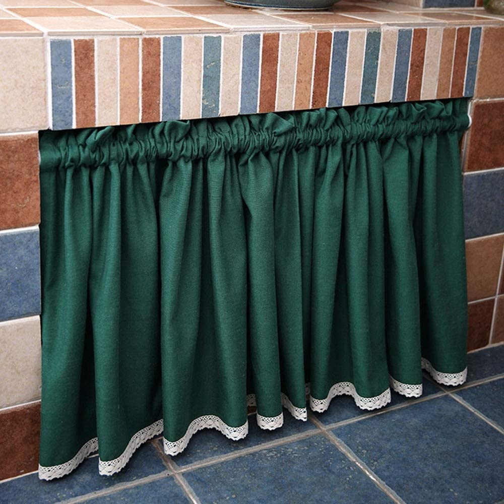 A Ranking TOP4 surprise price is realized KMSG Rod Pocket Solid Linen Tier Curtain Bathroom Light for Filt