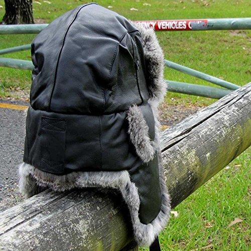 Greeninabottle(グリーンインアボトル)ホットシェルレザー防寒帽(ブラック)
