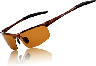 Men Sport Al-Mg Polarized Sunglasses Unbreakable for Driving Cycling Fishing Golf