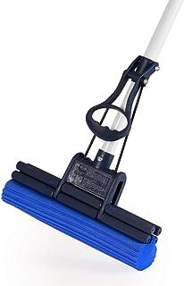 CleanAid OneTouch Easy Mopa, Fregona de Doble Rodillo con Esponja Absorbente de PVA y un Palo Telescópico Extra Largo de 140 cm
