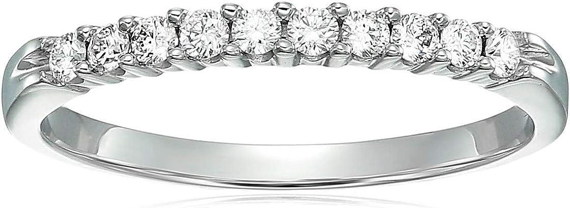Vir Jewels 1/4 cttw Diamond Wedding Band 14K White or Yellow Gold 10 Stones Prong Set Round