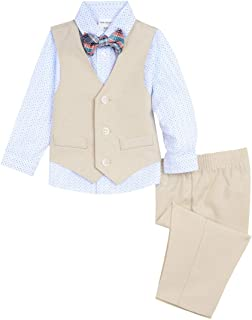Van Heusen Baby-Boys 4-Piece Patterned Dresswear Vest Set Long Sleeve Suit