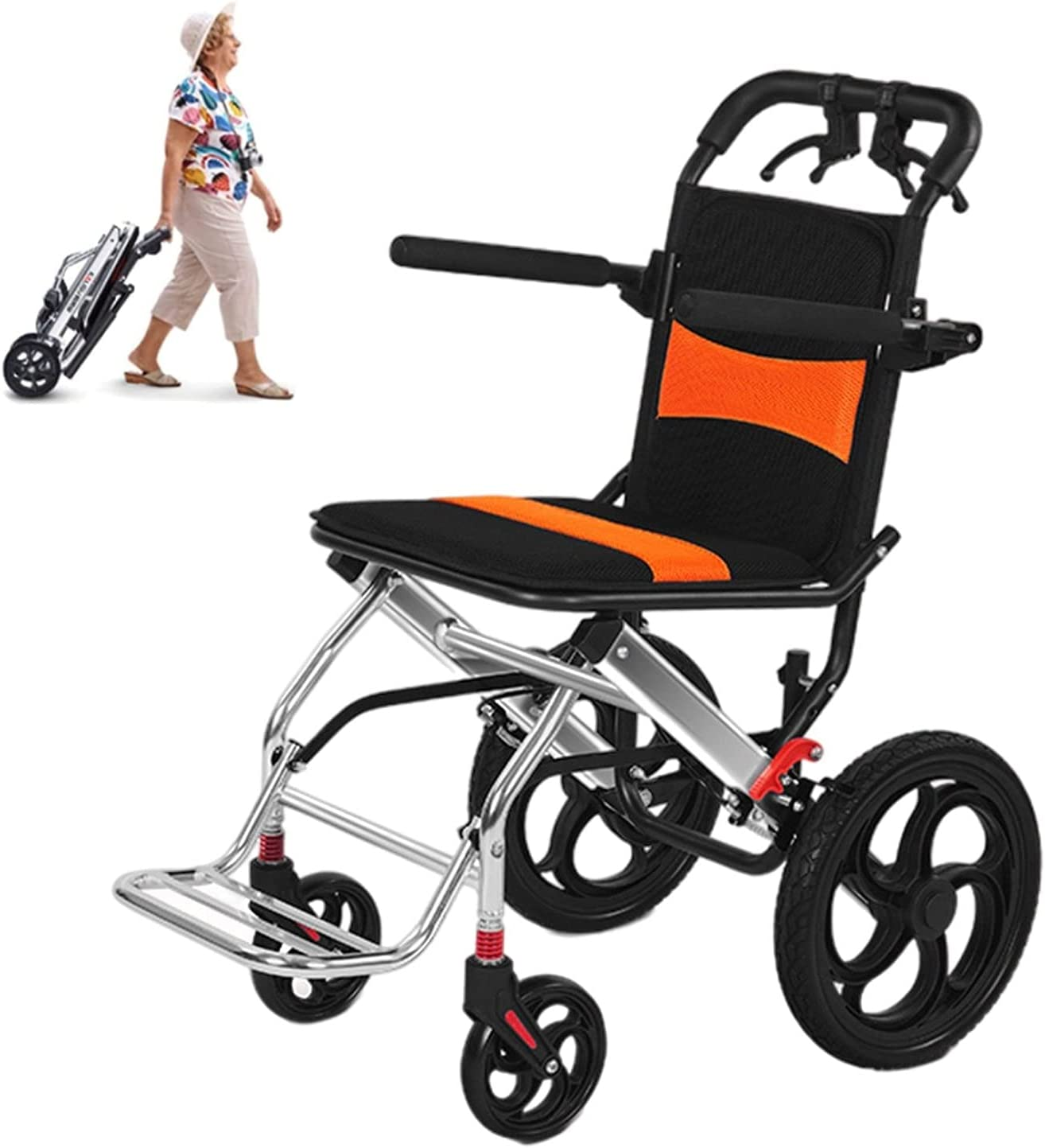 YYOBK Folding High order Wheelchairs Portable Excellence Hand Travel with
