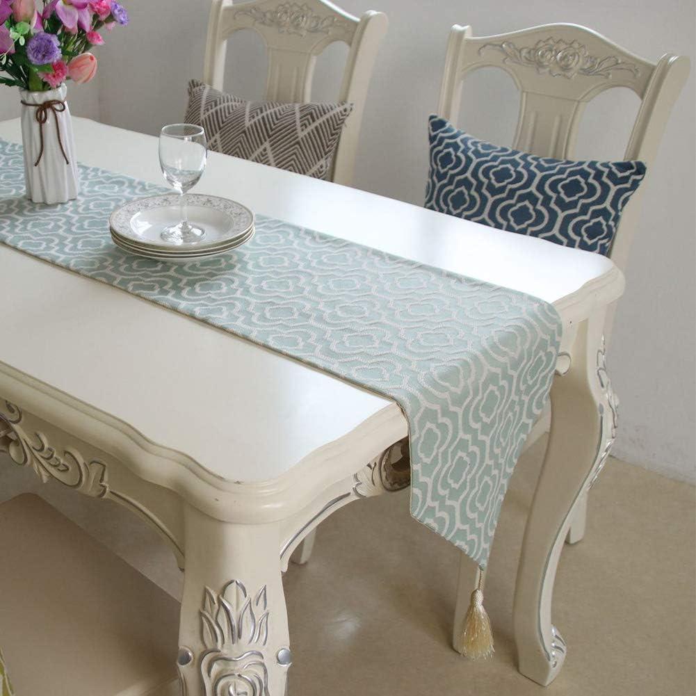 decoraci/ón de vacaciones fiesta boda ropa de cama AmandaJ Camino de mesa geom/étrico con borlas para mesa de comedor