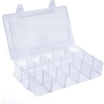 ネジケース パーツボックス パーツケース 収納ボックス 小物収納 釣り収納 15分仕切り小物入れ アクセサリー収納 透明ボックス 雑貨入れ Gospire