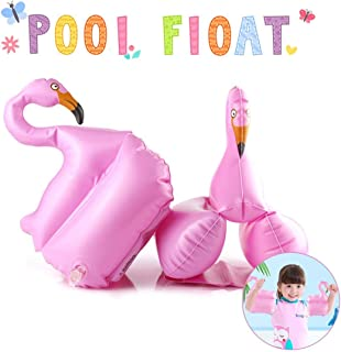 QUN FENG Pool Toys, Flamingo Pool Float Arms Inflatable Pool Toys for Kids Beach Swimming
