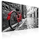 murando Cuadro en Lienzo 120x80 cm - Vintage 1 Parte Impresión en Material Tejido no Tejido Impresión Artística Imagen Gráfica Decoracion de Pared Bicicleta d-B-0080-b-b