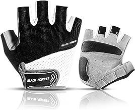 Podanic Super licht Zomer Ademende MTB Fietshandschoenen, Half Vinger Fietshandschoenen Antislip en Schokabsorberende Hand...