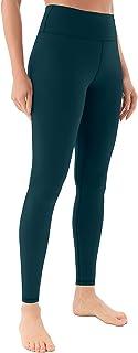Persit Damen Sportleggins, Blickdicht Sporthose Yogahose mit Innertaschen
