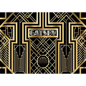 Allenjoy 7x5ft Great Gatsby Theme Birthday Party Photography Backdrop and Studio Props 1920s Black Gold Art Event Decoration Banner Background Newborn Baby Shower Photo Shoot Booth