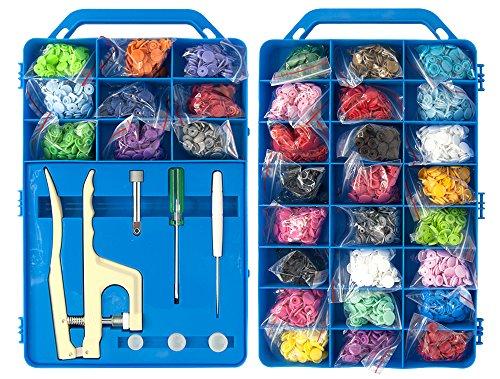 BabySnaps Koffer Mit BabySnap Snaps, Zange Und Werkzeug 660 Snaps Zertifiziert Nach Oeko-Tex® Standard 100, Zertifikatnummer: 15.0.69299