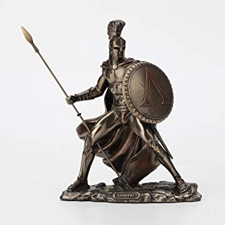 Veronese Design 7 1/4 Inch Spartan King Leonidas Cold Cast Resin Bronze Finish Statue Home Decor