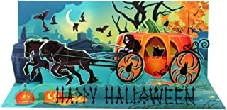 Up With Paper Pop-Up Panoramics Sound Greeting Card - Pumpkin Carriage