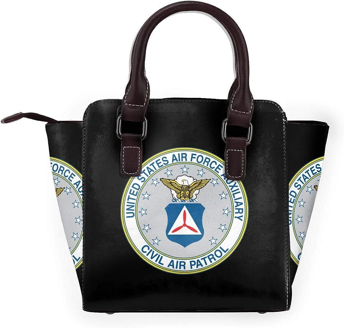 Fyre Festival Sac à main en cuir véritable pour femme Civil Air Patrol U Baseball