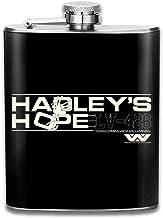 Hadleys Hope Aliens - Petaca de bolsillo con diseño de banderín de acero inoxidable portátil de 7 onzas