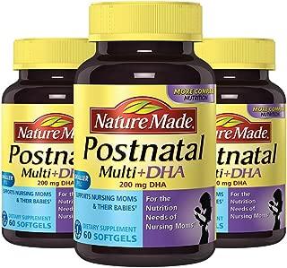 美国 Nature Made 莱萃美 产后多种综合维生素含DHA叶酸 60粒 跨境商品 (3瓶)