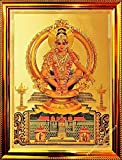 Manufactured in the Temple City Tirupati Traditionally Made for Divine and Dazzling look Hardened Fiber Laminate; Non-Glass and Safe High Glowing Premium Quality Golden Frame 8mm Heavy Wooden Backframe for Durability