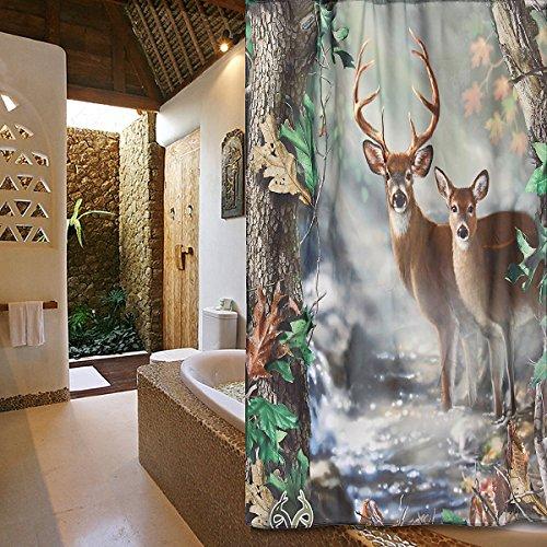 Bazaar 120x180cm herten stof polyester badkamer douchegordijn liner waterdicht