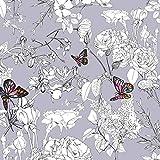 Art Gallery Fabrics - Jersey Stoff Meterware mit Blumen und