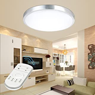 24W 16-Inch Dimmable LED Round Ceiling Lights with Remote Control 3000K - 6500K LED Flush Mount Ceiling Light for Kitchen Dining Living Room 4141TY