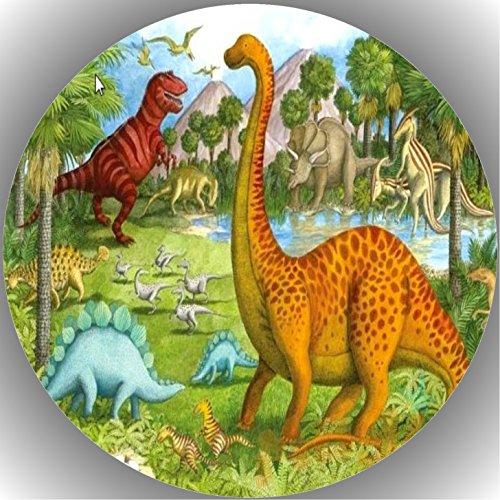 Fondant Tortenaufleger Tortenbild Geburtstag Dinosaurier AMA15