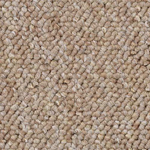 Schlingen Teppich in der Farbe beige meliert | Teppichboden in der Breite 400cm & in der Länge 600cm | Bodenbelag wird als Meterware geliefert | weich & strapazierfähig