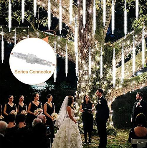 Eariy meteor dusch regnlampor LED julbelysning 50 cm 8 rör vattentät droppe istapp snö fallande regndroppe kaskadbelysning för fest bröllop trädgård julgran dekoration