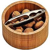"""Kesper 62822 Nut Bowl 6.69"""" Round, Brown"""