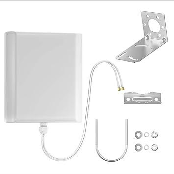 Octofibre Antena 4G exterior – Amplificador para router 4G – Compatible con todas las cajas – router Huawei – Bouygues – Naranja – 2 cables SMA de ...