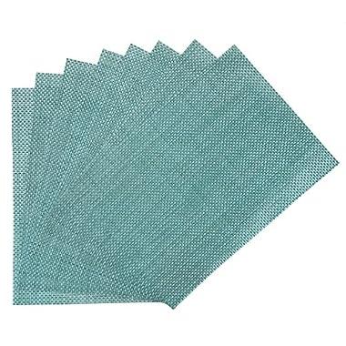 Benson Mills PM Longport Woven Vinyl Placemat Set of 8, Turquoise