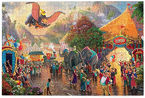 yeeatz D-is-ney Du-mbo Puzzle 1000 Piece Jigsaw Puzzle Kids Adult 29.72×19.8 inches-1
