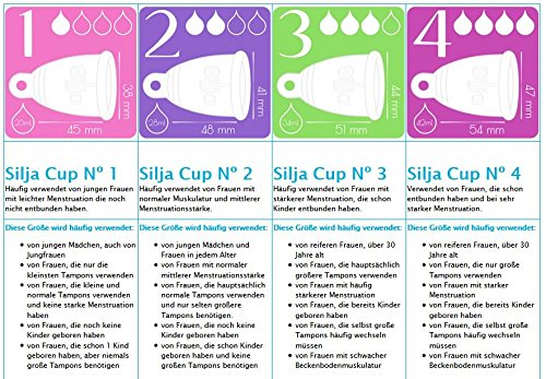 Silja Cup Menstruationstasse made in Germany aus 100% medizinischem Silikon / Nº3 RING - 4