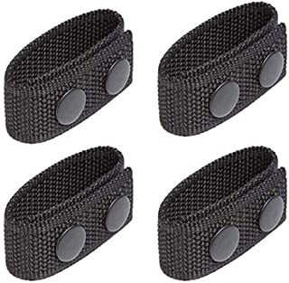 JFFCESTORE 4PC Belt Keeper with Double Snaps for Belt Fixing Tactical Belt Police Military Equipment Accessories