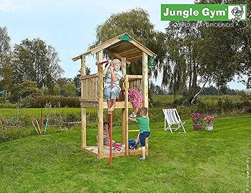 Spielturm Jungle Gym Castle Set mit Feuerwehrstange Sandkasten Kletterturm - Jungle Gym (inkl. Holzpaket)